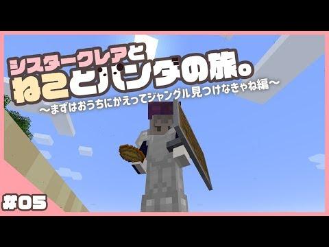 【マイクラ1.14】ねこちゃんとパンダ捜索? #05【ソロ鯖?】
