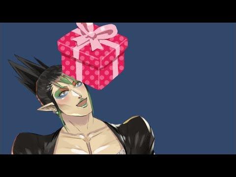 花畑チャイカと誕生日まで取っておこうかと思ったけどでかい段ボール二つは邪魔なのでプレゼント開封回です皆ありがとうさぎ