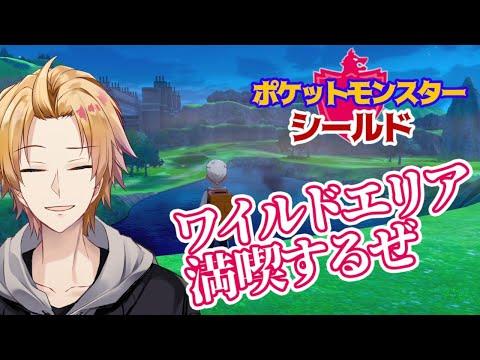 【ポケモンシールド】ワイルドエリアで豪雨発生中!【神田笑一/にじさんじ】