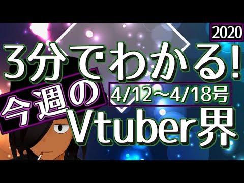 【4/12~4/18】3分でわかる!今週のVTuber界【VTuberニュースまとめ】