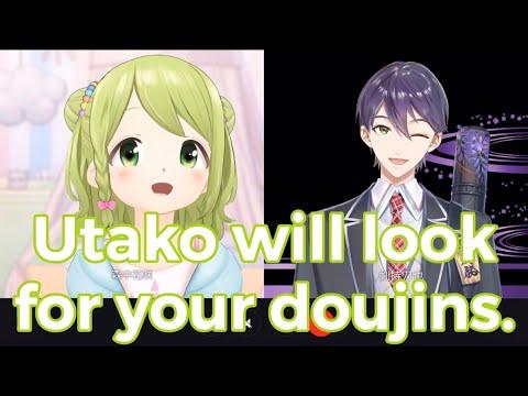 [Eng Subs] Kazaki and Utako checks Kenmochi Touya doujins [Nijisanji]