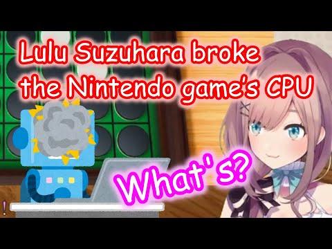 【Eng sub】Lulu Suzuhara broke the Nintendo game's CPU【Nijisanji】