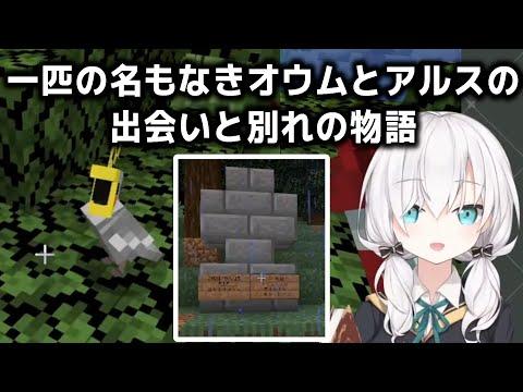 仲間にしたオウムをすぐに誤射してしまい、悲しみに暮れ墓を建てるアルス・アルマル【アルス・アルマル/にじさんじ/切り抜き/Minecraft】